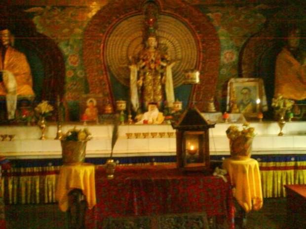 Inside a monastery in Aloobari