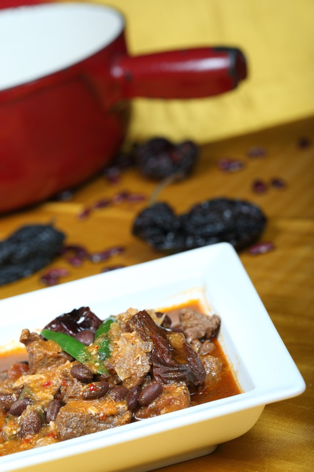Chili (braised  tenderloin wd black beans)